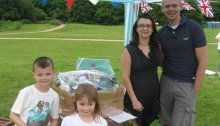The Winners of the Waitrose Hamper - Tedbury Family of Trumpington Meadows