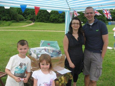 The Winners of the Waitrose Hamper - Tedbury Family of Trumpington Meadows